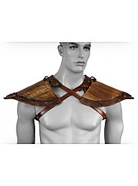 Wood Elf Leather Shoulder Guards