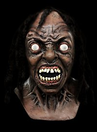 World War Z Labor Zombie Deluxe Maske aus Latex