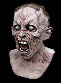 World War Z Schreiender Zombie Deluxe Maske aus Latex