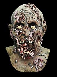 Wurmzombie Maske aus Latex