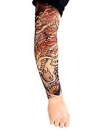 Yakuza Manches de peau tatouée