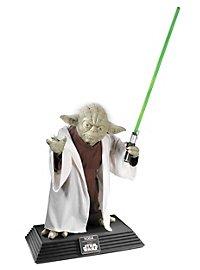 Yoda Statue lebensgroß mit Lichtschwert