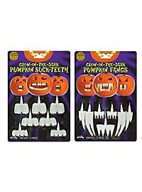 Zähne für Halloween-Kürbisse