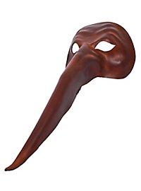 Zanni grande de cuoio Masque en cuir vénitien