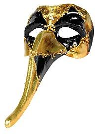 Zanni occhi cuoio musica - Venezianische Maske