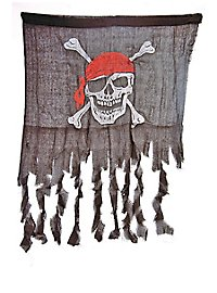 Zerfledderte Piratenflagge