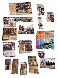 Zombie Apocalypse Newspaper Deco