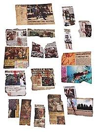 Zombie Apokalypse Newspaper Deko