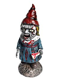 Zombie Garden Gnome Woman Halloween Decoration