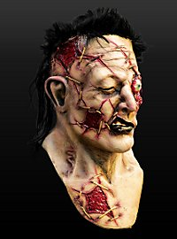 Zombie-Gladiator Maske aus Latex