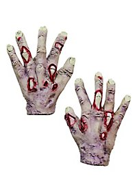 1690 zombie hands for kids blue - Zombie Props