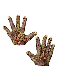 Zombie Hands short green made of latex