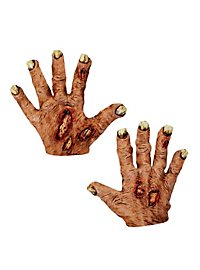 Zombie Hands short red made of latex