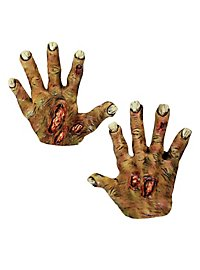 Zombie Hands short yellow made of latex