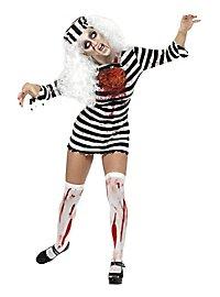 Zombie Jailbird Girl Costume