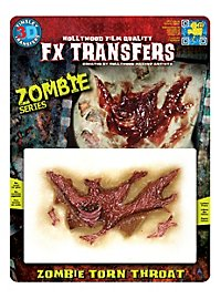 Zombie Kehlenwunde 3D FX Transfers