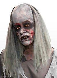 Zombie Opa Perücke mit Kunststoffstirn