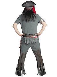Zombie Pirat Kostüm mit Perücke