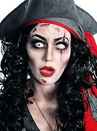 Zombie Piratin Komplett Kostüm