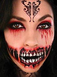 Zombie Riesenmund Klebe-Tattoo
