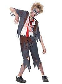 Zombie schoolboy child costume