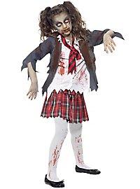 Zombie Schulmädchen Kinderkostüm