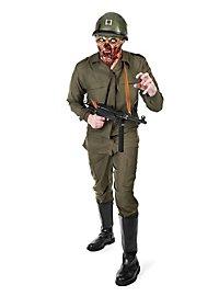 Zombie Soldat Kostüm mit Maske