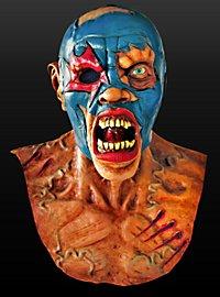 Zombie-Wrestler Maske aus Latex