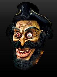 Zombiekapitän Maske aus Latex
