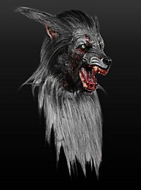 Zombiewolf Maske aus Latex