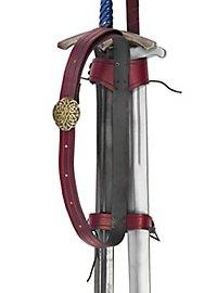 Zweifacher Rückenschwerthalter Koppel rot