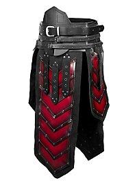 Zwerg Komplettrüstung schwarz-rot