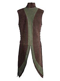 Zwerg Untergewand braun-grün aus Veloursleder